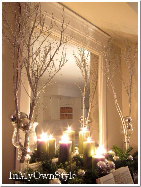 Silver or gold trees | Baby girls room ideas | Pinterest
