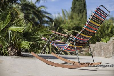 Rocking chair Click / Plastica & bambù - Houe