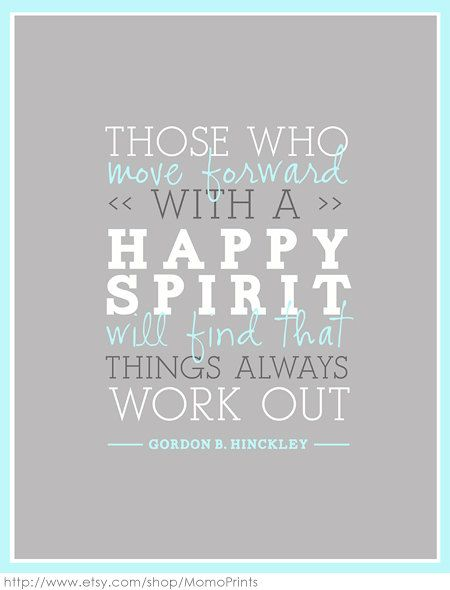 Have a happy spirit!