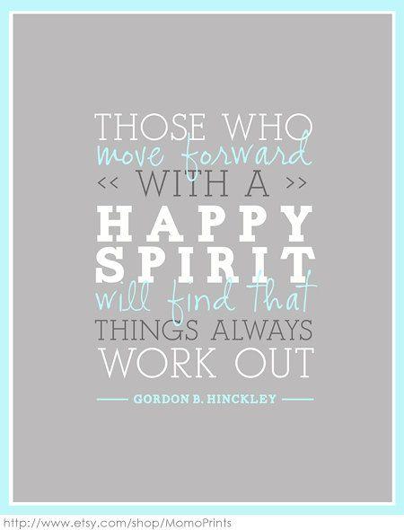 Have a happy spirit!