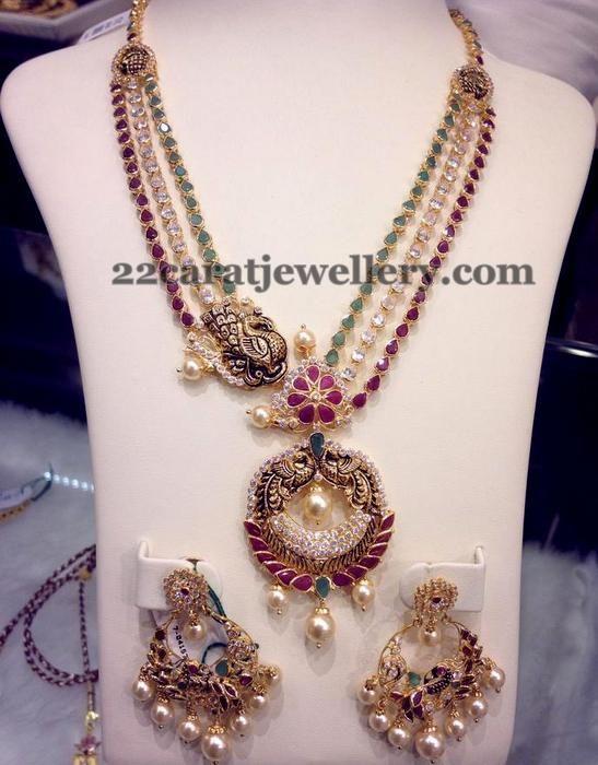 jewellery designs rows gemstone necklace ruby