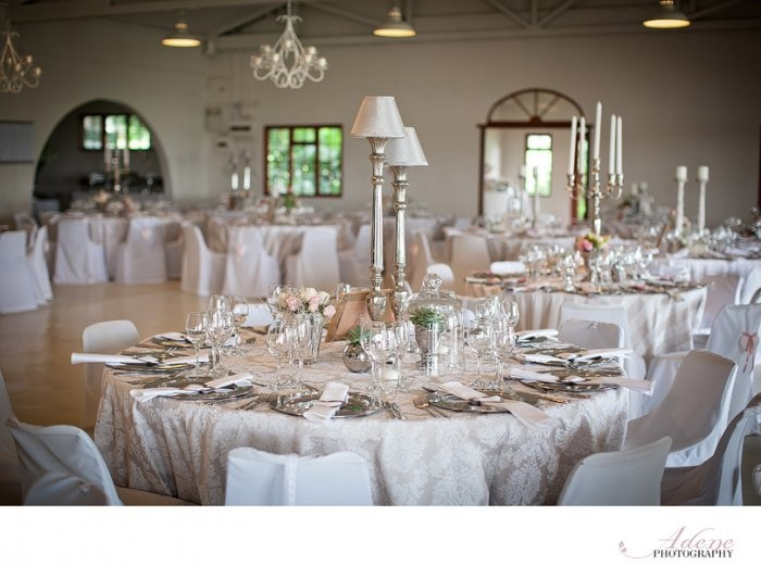 This is pretty with the tall lamps  South Africa Wedding Venues - Groenrivier Function Centre