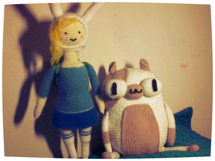 Fionna and Cake amigurumi  Visit my pag http://princesa-lanosa.tumblr.com/