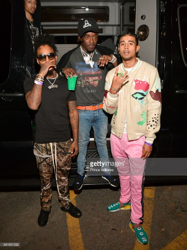 Drugrixhpeso, Lil Uzi Vert and Kap G attend Lil Uzi Vert in Concert at The Tabernacle on November 28, 2017 in Atlanta, Georgia.