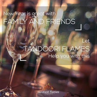 Social media post design for Tandoori Flames restaurant.  #SocialMedia GraphicDesign #Facebook #Instagram #NewYear
