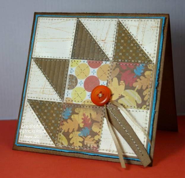 maple leaf quilt block card