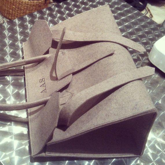 ArtAK Birkin Bag. Wool felt bag inspired by the famous Hermes Birkin Bag. Made to order. on Etsy, $180.00