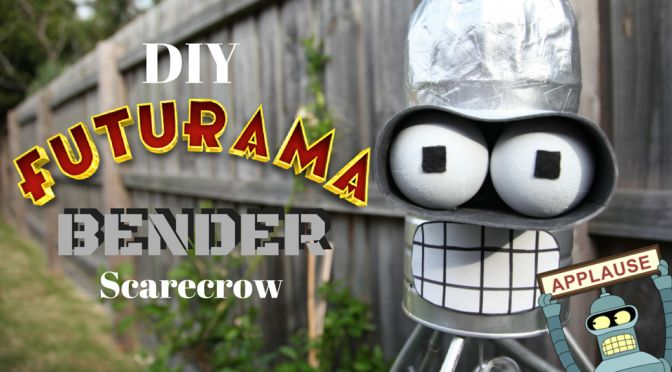 Make your very own Bender (from Futurama) scarecrow, to swear at the birds and throw beer bottles at the possums! Get the Dad-about-the-house creating with this how-to guide.
