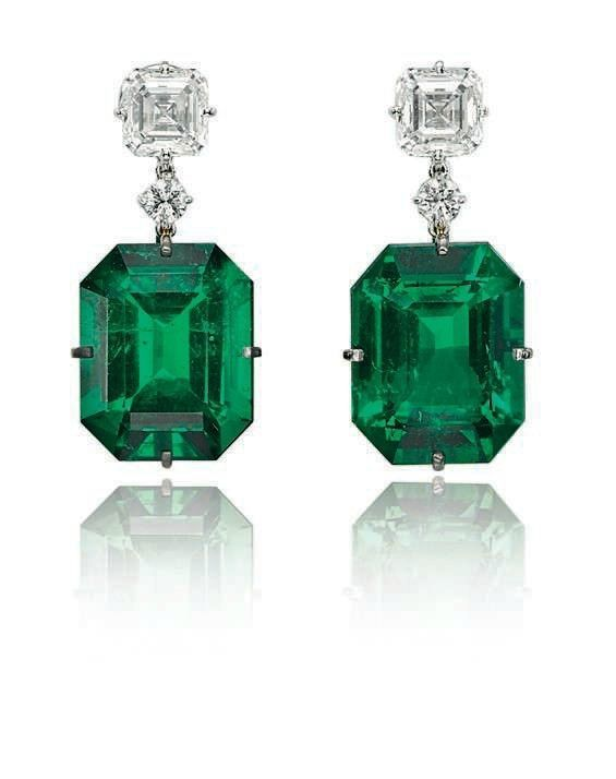 Emerald and Diamond Earrings | Silver Jewelry Cleaning ...