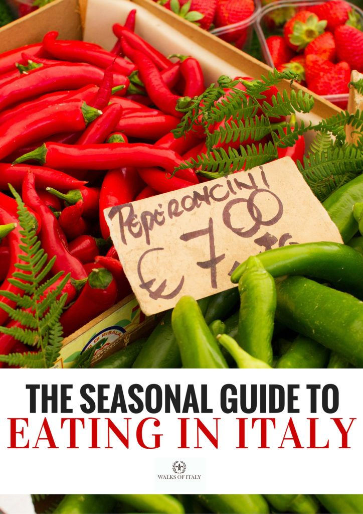Fresh peppers are a summer delicacy in Italy. Find out what to eat and when to eat it in the Walks of Italy guide to seasonal eating in Italy.