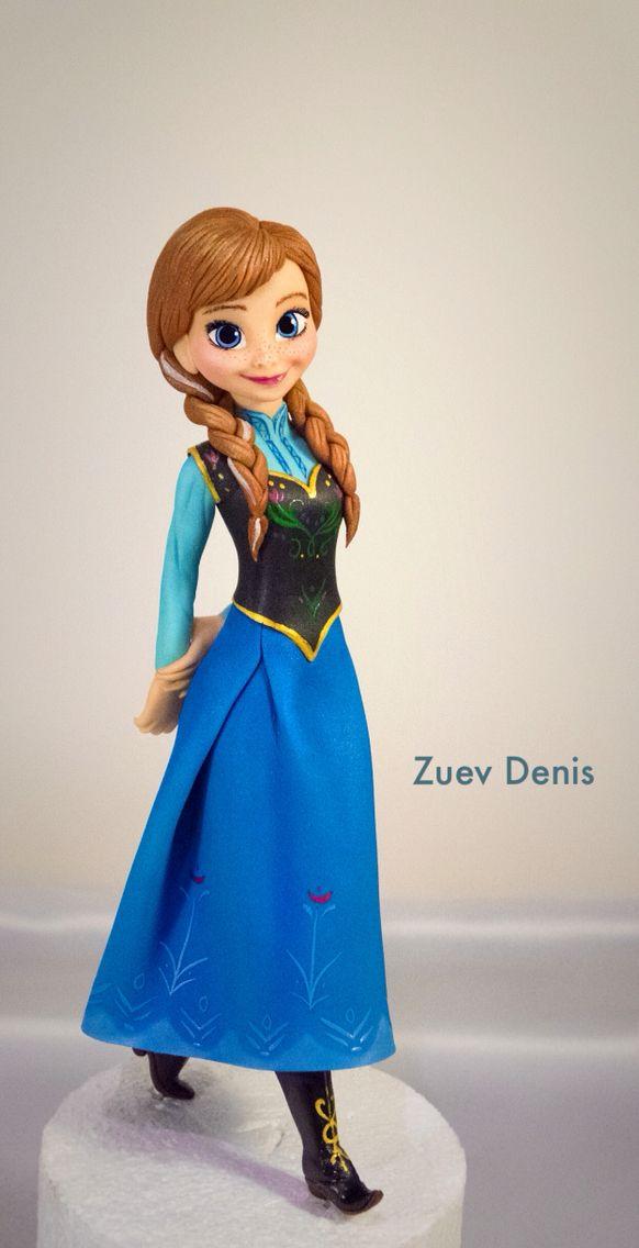 Принцесса Анна на торт холодное сердце