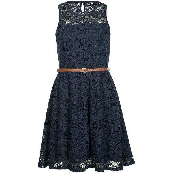 veste courte bleu marine ❤ liked on Polyvore featuring dresses, vestidos, short dresses, mini dress, blue mini dress, short blue dresses and blue dress