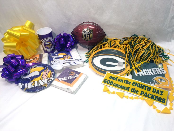The big packer viking game is happening this sunday! Are you ready for the game? Check out out selection of viking and packer items to make sure you are ready to cheer on your team!   www.5050factoryoutlet.com  #vikings #packers #gameday #bumpersticker #tattoos #plates #napkins #balloons #gameday #football #nfl #5050factoryoutlet #party #tailgate #partysupplies