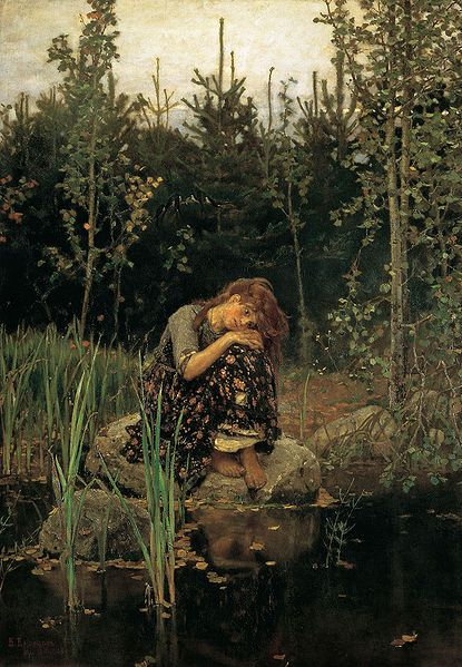 Inspiration: Russian Artist  -  Viktor Vasnetsov  1881  oil on canvas  'Alyonushka'