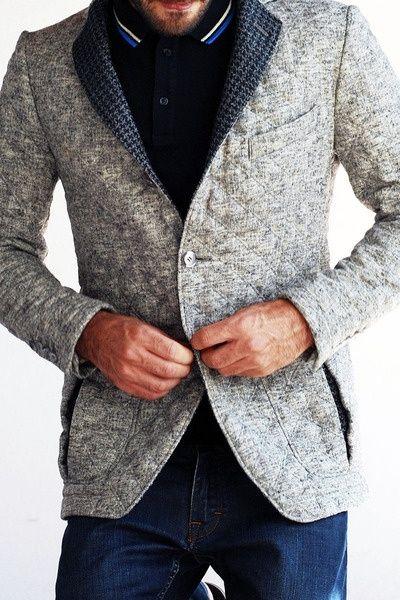 grey blazer. great details. mens fashion by tsipouraki