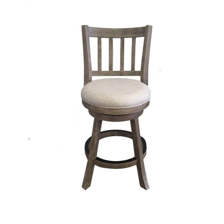 24 Inch Sheldon Swivel Counter Stool Ivory Brown Metal