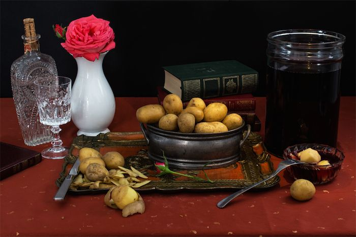 Celebrity Fad Diets Recreated as Classical Still Lifes - Lord Byron- potatoes in vinegar and soda water