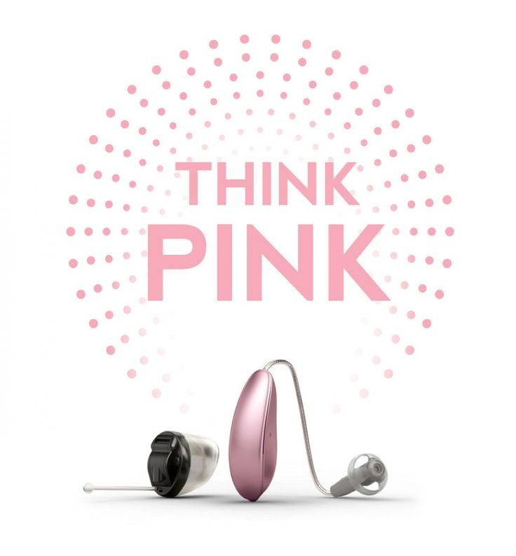 "Oticon says ""Think PINK""  -Northgate Hearing Services"