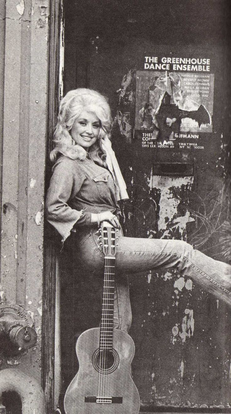 Dolly Parton & guitar