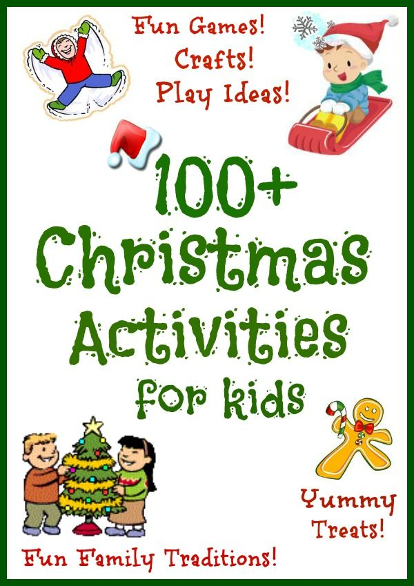 An amazing collection of FUN Christmas activities for kids including ...