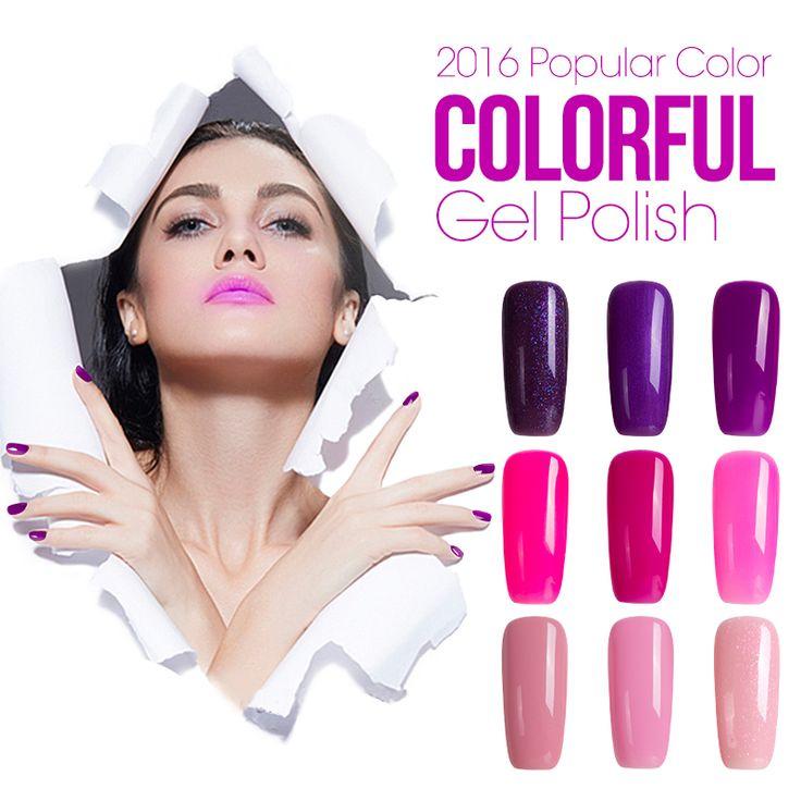 Azure 60 farben glänzende tränken-weg uv gel polnischen gel-nagel polnisch UV-Gel Polnisch langlebige tränken-weg LED UV Gel Nagellack