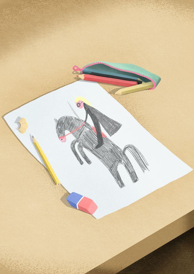 "© Sara Gironi Carnevale For Artwort Magazine - Me in five illustrations"""