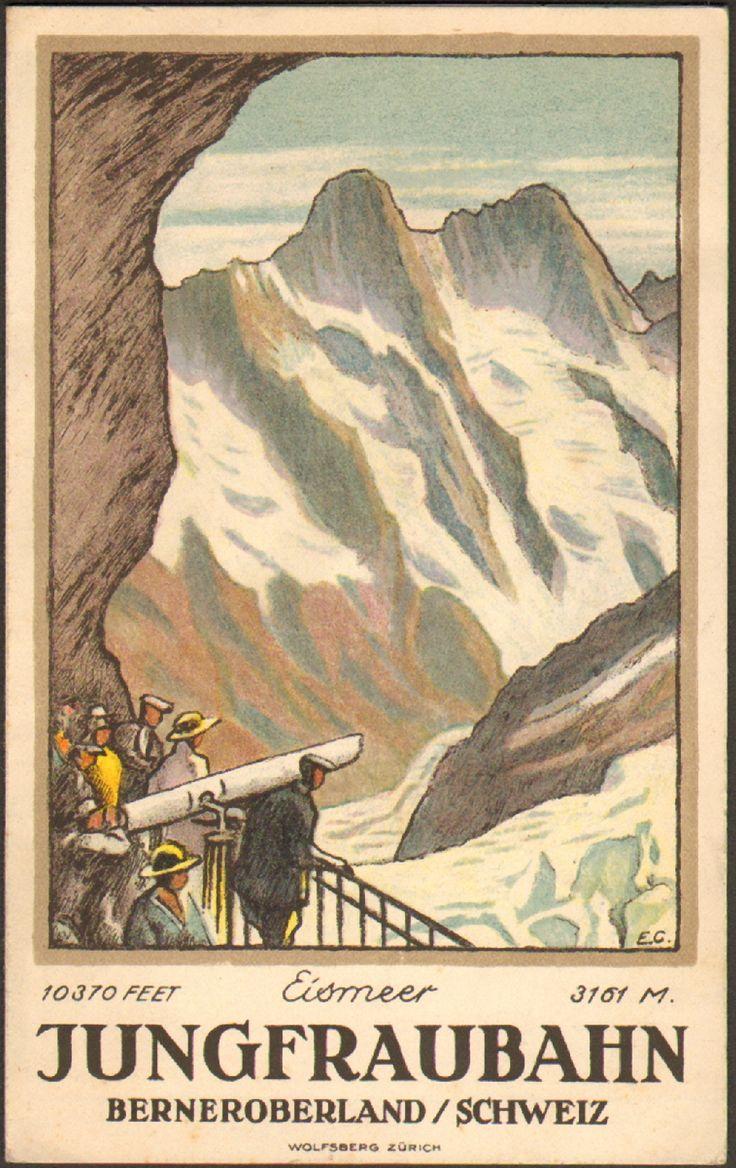 Jungfraubahn Berneroberland Emil Cardinaux ( guide book )