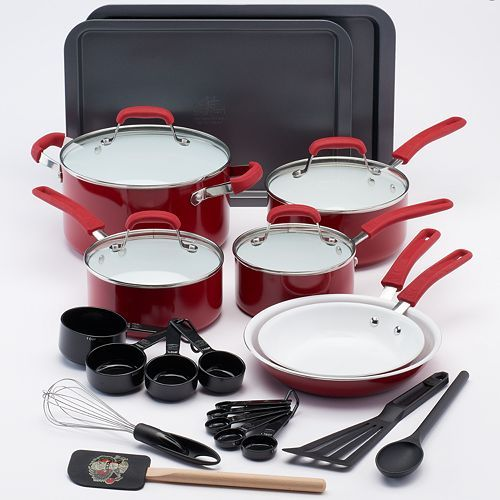 Guy Fieri 25-pc. Ceramic Nonstick Cookware Set $89.99 (Cyber Monday) @ Kohl's
