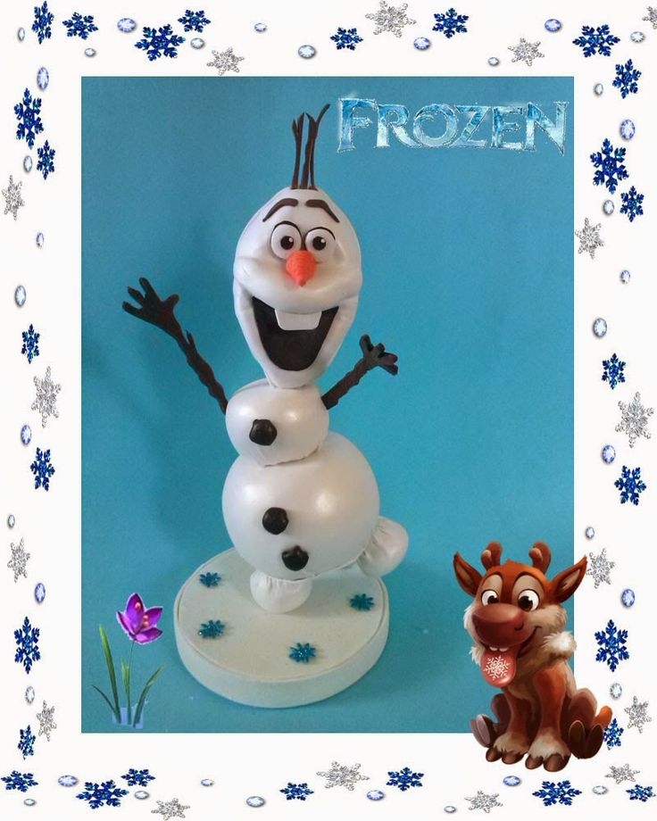 creaciones D Moni: fofucho Olaf Frozen