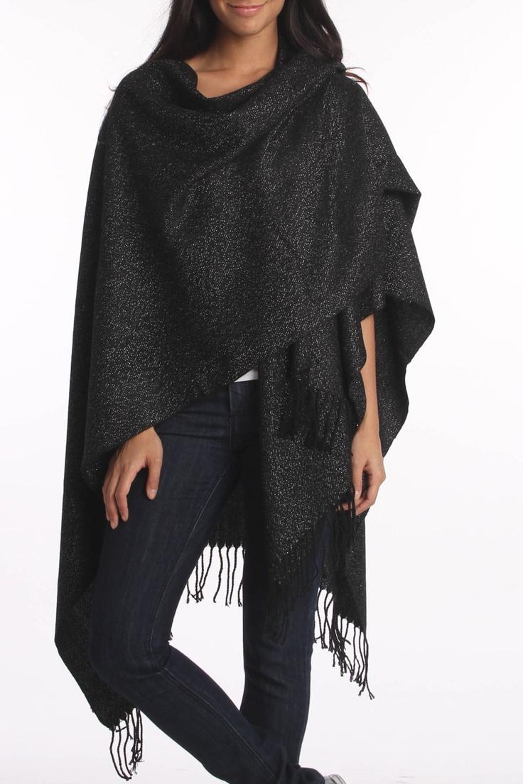 Black Shimmer Wrap