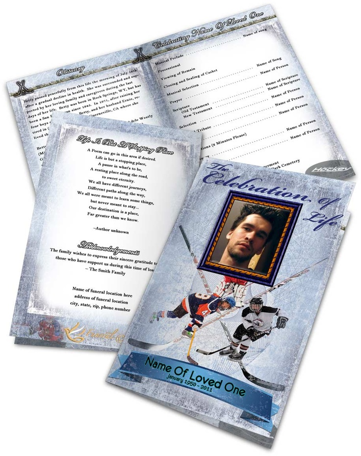 Best Funeral Program Templates  Thank You Cards Images On