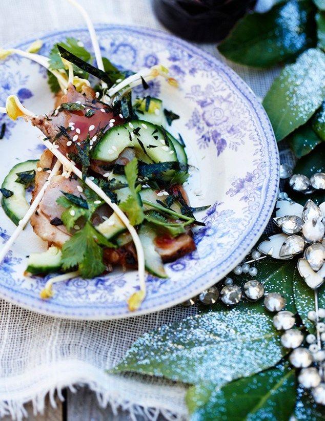 Julet andesalat med tang & agurk
