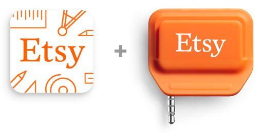 Etsy Credit Card Reader - Off line sales link back to your Etsy shop!