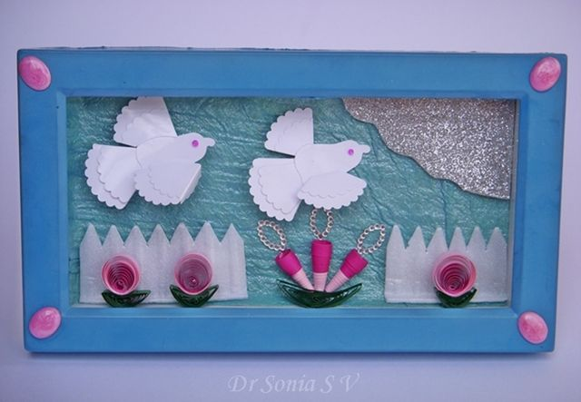 Cards ,Crafts ,Kids Projects: Punch craft Dove Tutorial - Recycled Clock