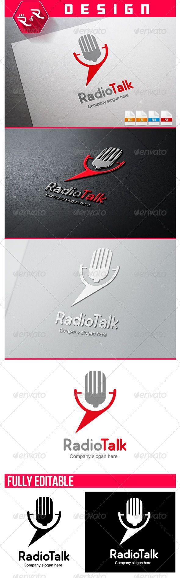 Radio Talk Logo Template