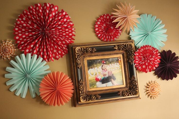 Circus Theme Pinwheels / Wall Decor