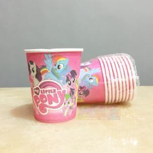 Jual Beli Gelas Ulang Tahun Karakter Little Pony Pink Kertas tebal perlengkapan pesta kartun kuda poni anak Baru | Peralatan Makan Berkualitas Murah |  Bukalapak