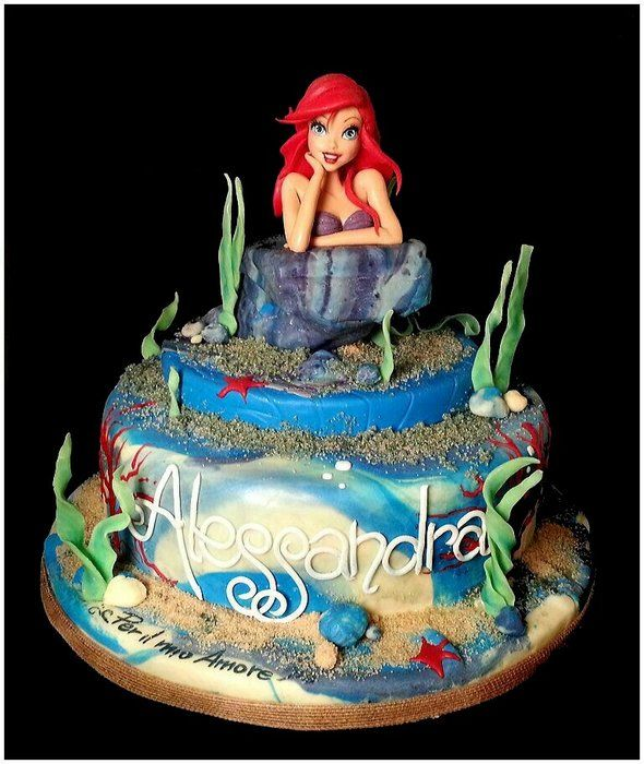 Ariel by mgsugarcake cake decorating for Ariel cake decoration
