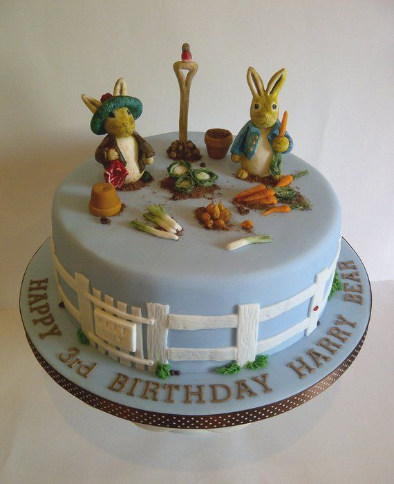 Beatrix Potter Birthday Cake - by #CakeyCake @ CakesDecor.com - cake decorating website