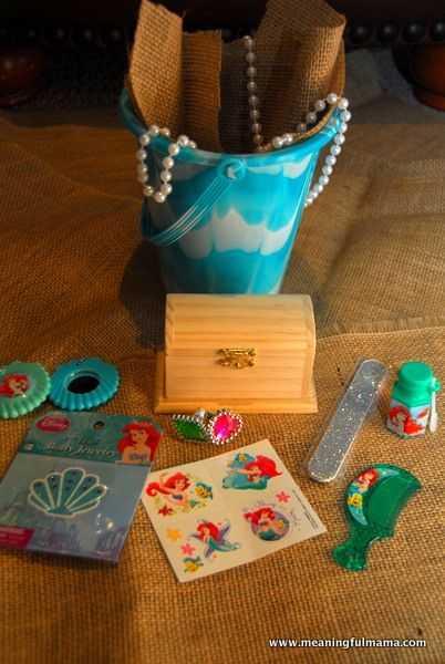 A Mermaid Party Disney Activities And Treat Bags