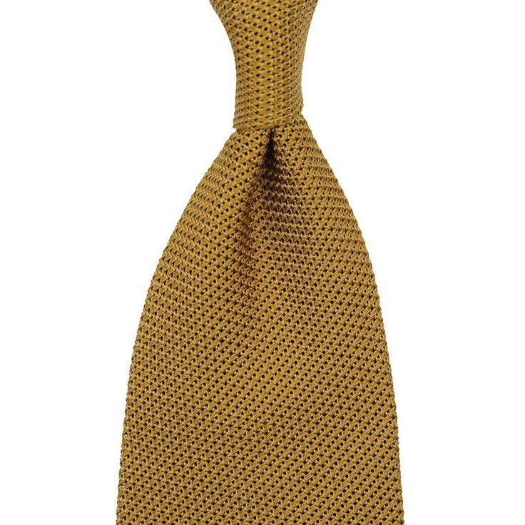 Grenadine / Garza Piccola Tie - Mustard - Handrolled