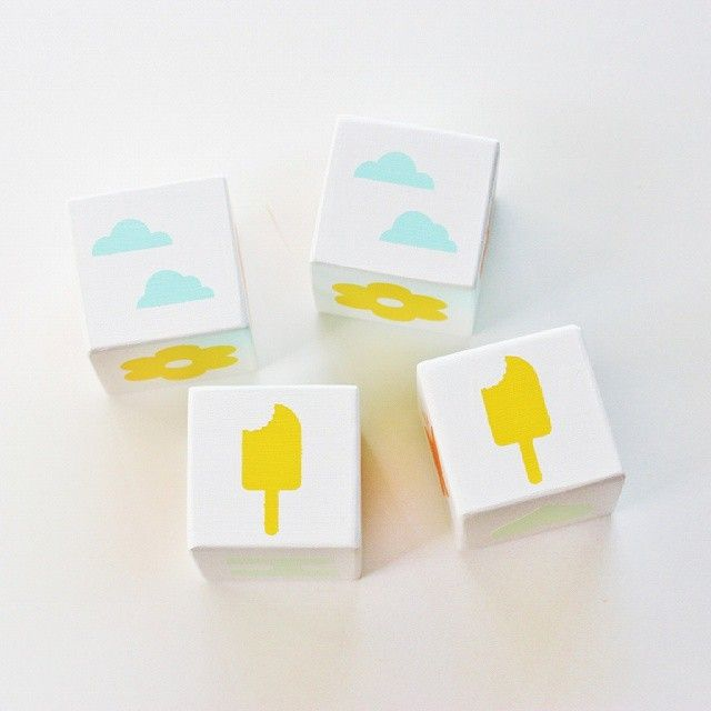Inspired by summer fun these are a new block set... match the iceblocks, clouds, flowers, icecreams.... also spells out FUN! Xxx #summer #fun #woodblocks