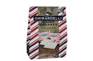 $16.99 38 pieces of Peppermint Bark Chocolate   http://www.thecandylandstore.com/wholesale-bulk-candy/ghirardelli-pepermint-bark-squares.html