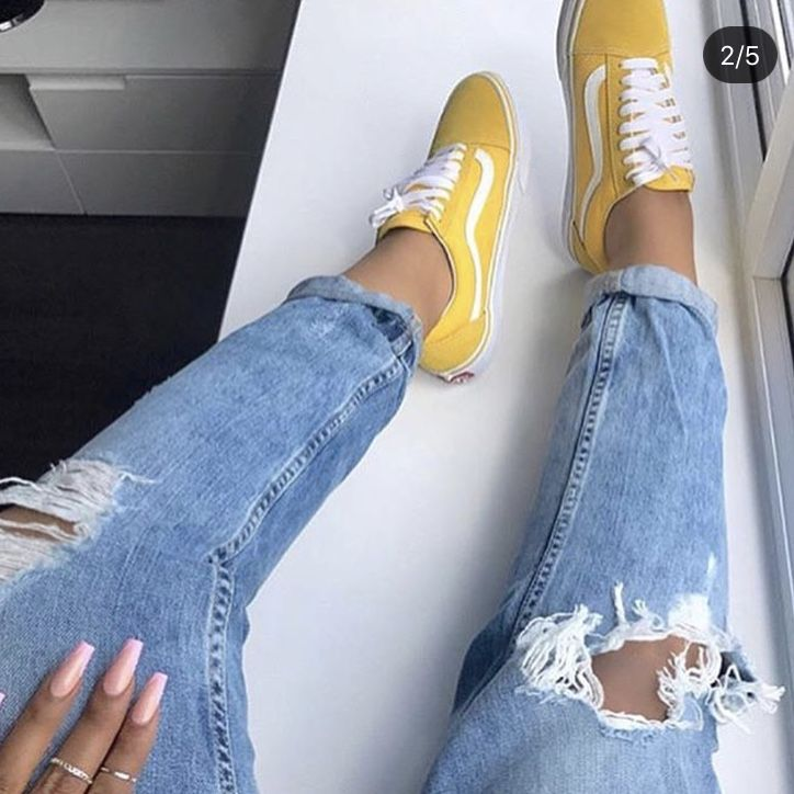 yellow vans pinterest