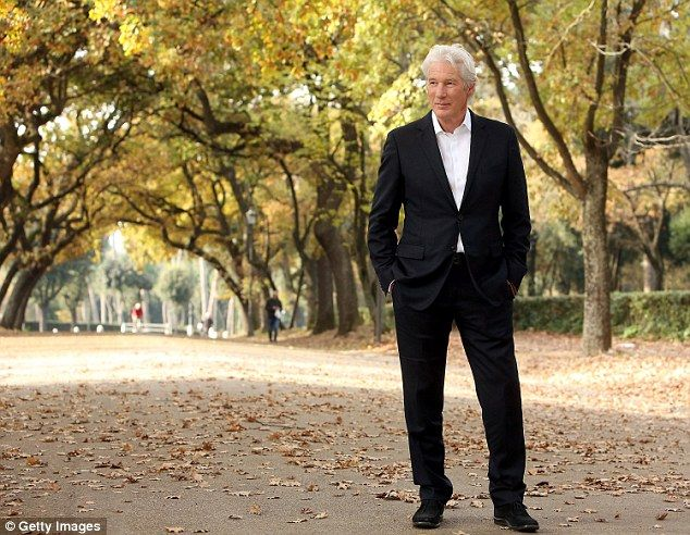 Silver fox Richard Gere looks handsome in dapper black suit as he steps out in Rome to promote upcoming film The Benefactor 12/14/15