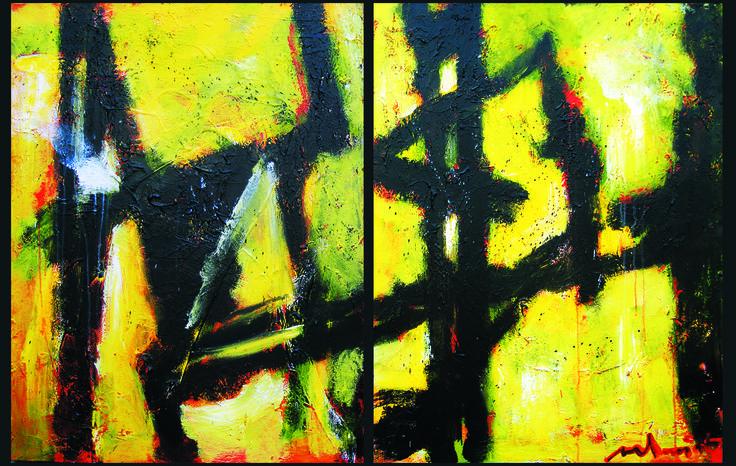 70 x 90 cm ( 2x) Abstract Art by Paul Smidt  www.paulsmidt.nl www.facebook.com/paulsmidtschilderkunst