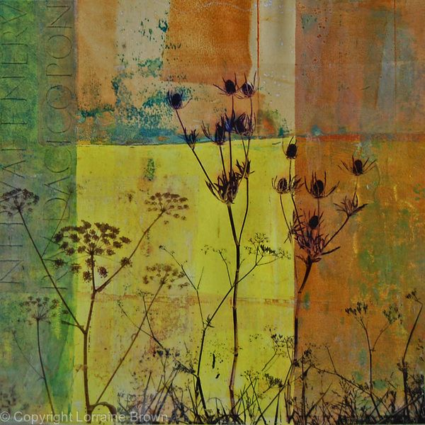 Across the Fields - Mixed Media Collage