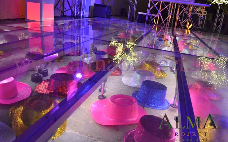 ALMA Project @ Lucca (Private Location) - Lighting - Acrylic transparent dancefloor detail 2 Lighting Hats