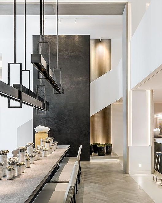 Dining Room With A Double Height Space