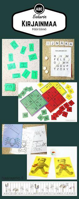 Kirjainten kertausta pistetyöskentelynä: läpsy, bingo, sudoku, pisteestä pisteeseen, nallejen laastarointi & palapeli + linkkejä tulostettaviin materiaaleihin